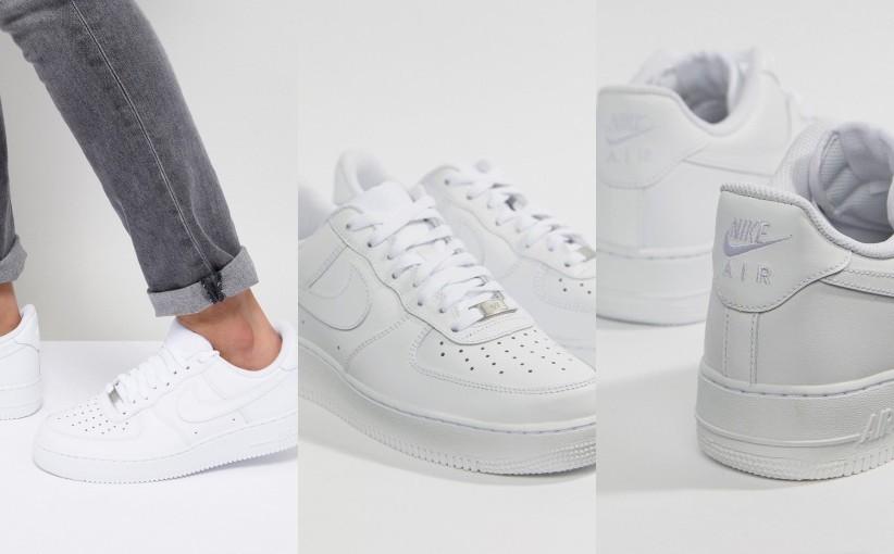 Buty Nike Air Force One Niskie Białe Męskie 44,5