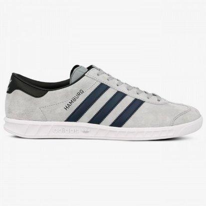 Męskie Siwe Buty Adidas Hamburg (42) BB5298 26,5