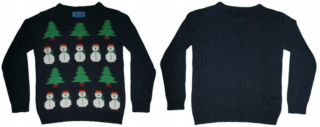 Świąteczny sweterek REBEL roz 152 (11-12 lat)