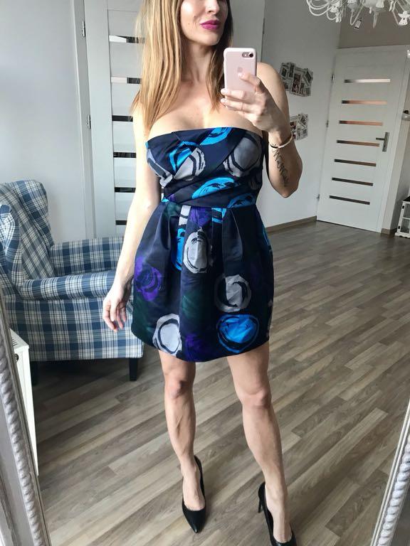 Sukienka koktajlowa ARMANI 36 WYPRZEDAŻ!!!