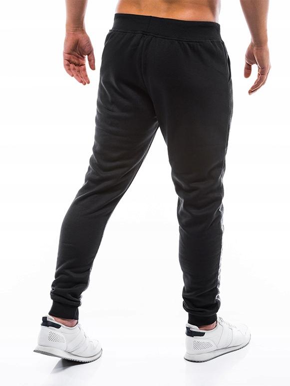 Spodnie dresowe męskie dresy sport P723 grafit XL