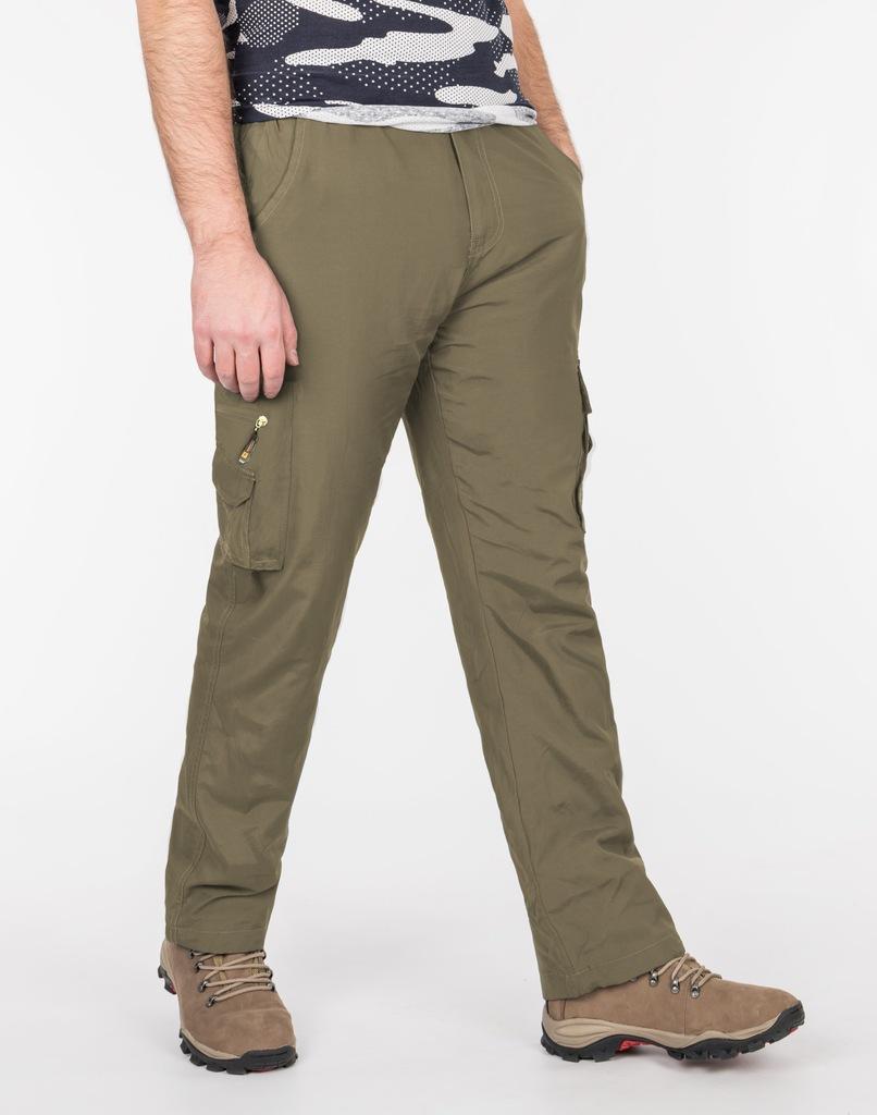 Spodnie Męskie Bojówki Trekkingowe 804 r XL khaki
