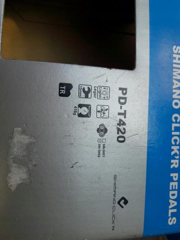 pedały shimano pd t 420 wpisane platformy nowe