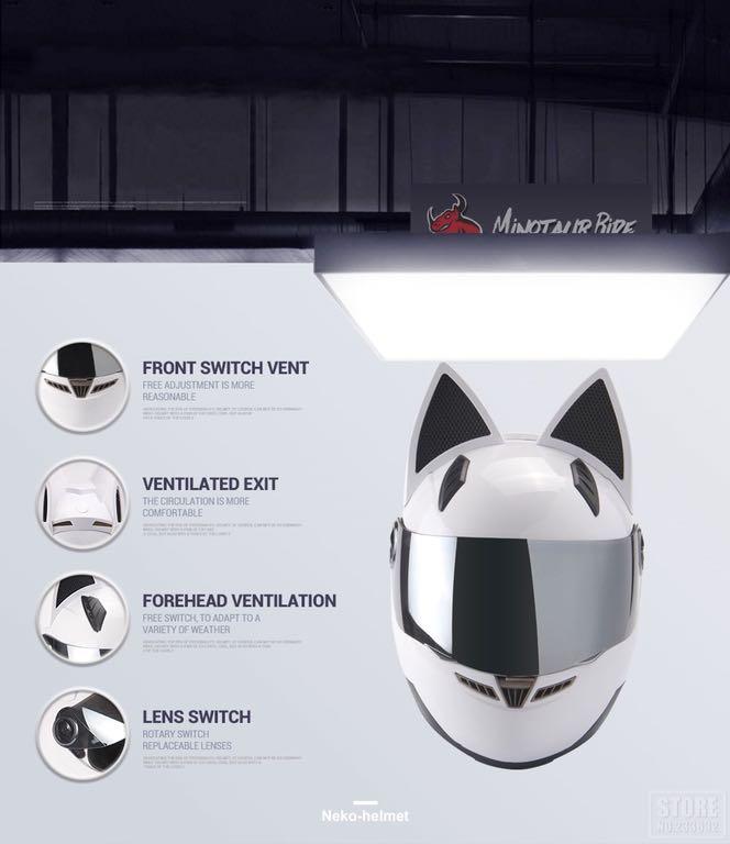 Kask Motocyklowy Cat Look Kot Kobieta Uszy Damski 7285149345 Oficjalne Archiwum Allegro