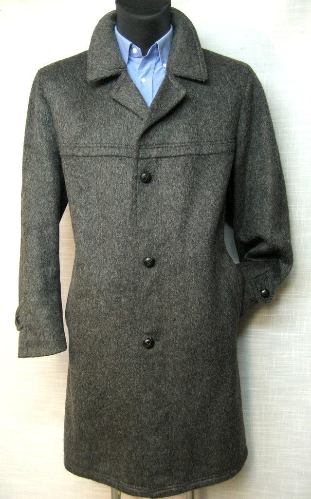 piękny stylowy płaszcz vintage wełna moher XXL 27