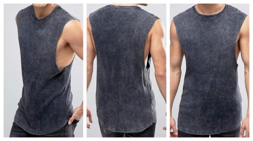 koszulka bokserka acid na siłownię XL