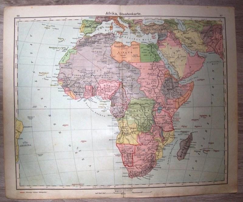 AFRYKA. MAPA POLITYCZNA. Mapa. 1929.
