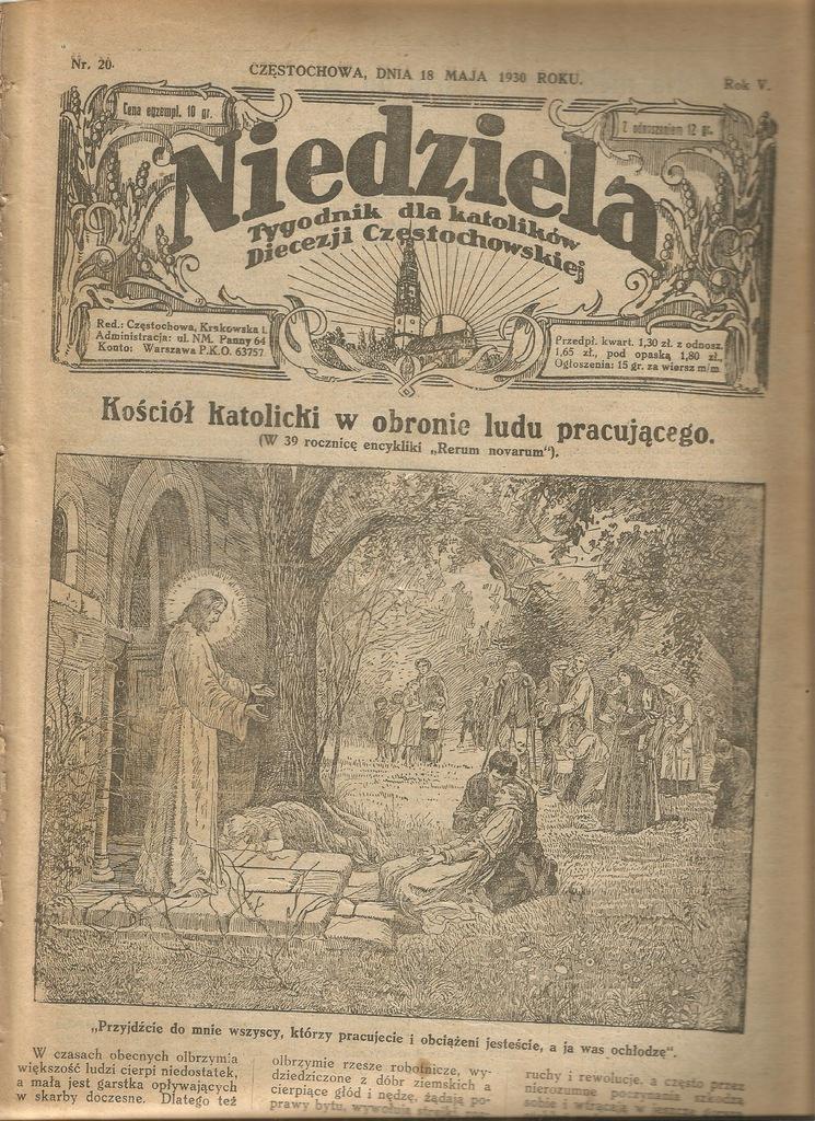 1930 DZIETRZKOWICE WÓJCIN WIERUSZÓW