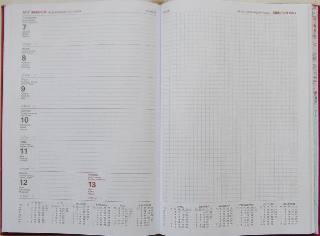 Kalendarz 2017 Ksiazkowy A4 Tygodniowy Z Notesem 6774826246 Oficjalne Archiwum Allegro