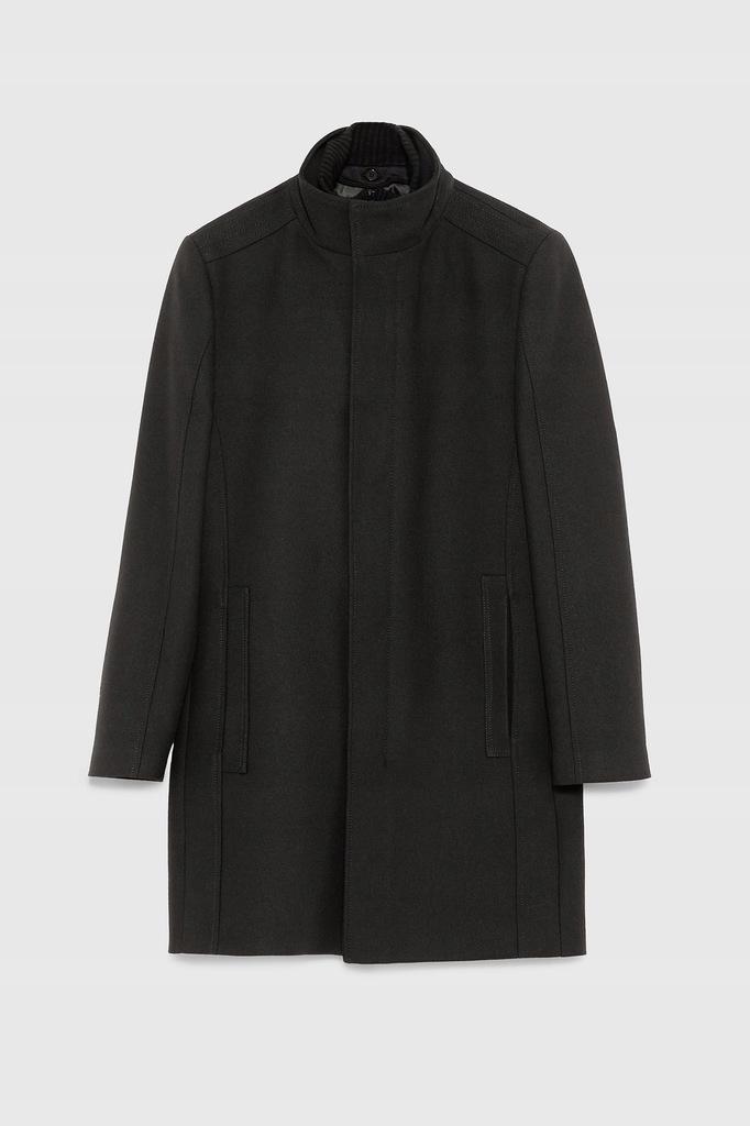 ZARA męski płaszcz elegancki zimowy ocieplenie L
