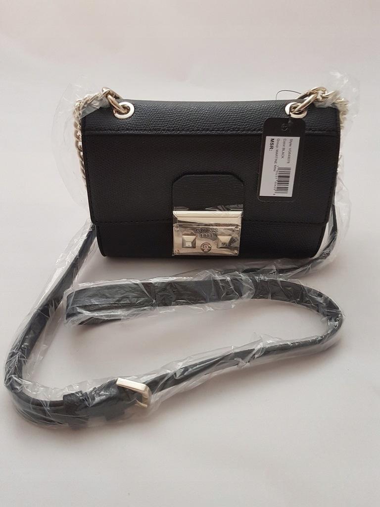 GUESS mini torebka Listonoszka Martine czarna