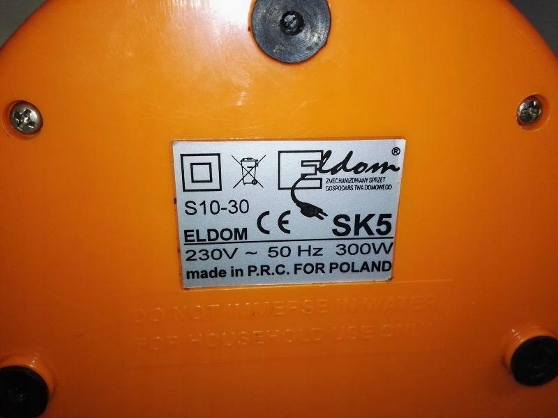 Archiwalne: Sokowirówka model SK5 Eldom 300W, 50Hz, 230V