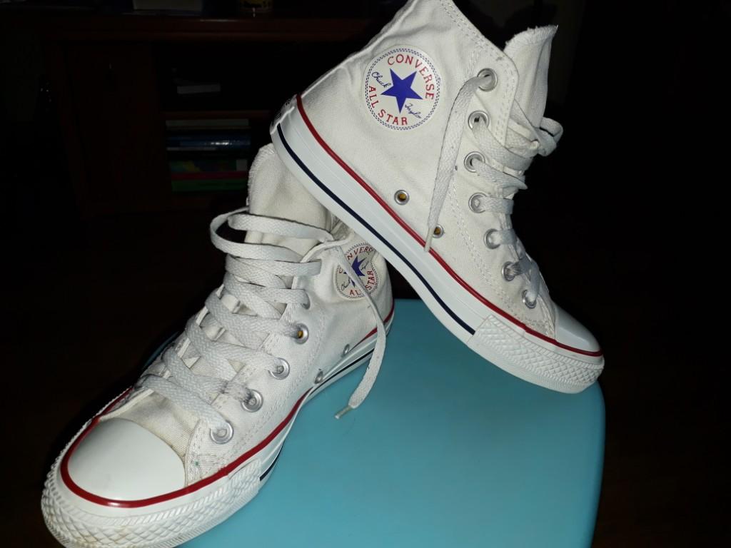 Trampki Converse 37,5 białe długie 38 36