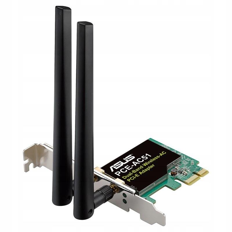 ASUS PCE-AC51 AC750 Wireless LAN Adapter PCI-E 802