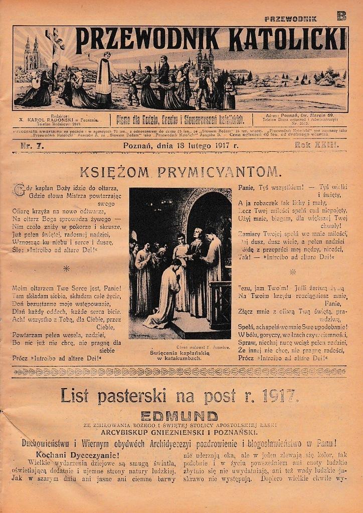 P.K. 1917 7 Gniezno Poznań