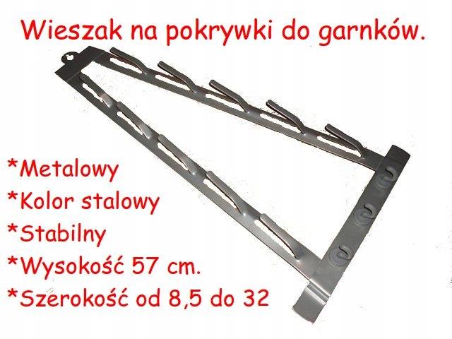 Wieszak Uchwyt Na Pokrywki Do Garnkow Metalowy 7618076967 Oficjalne Archiwum Allegro