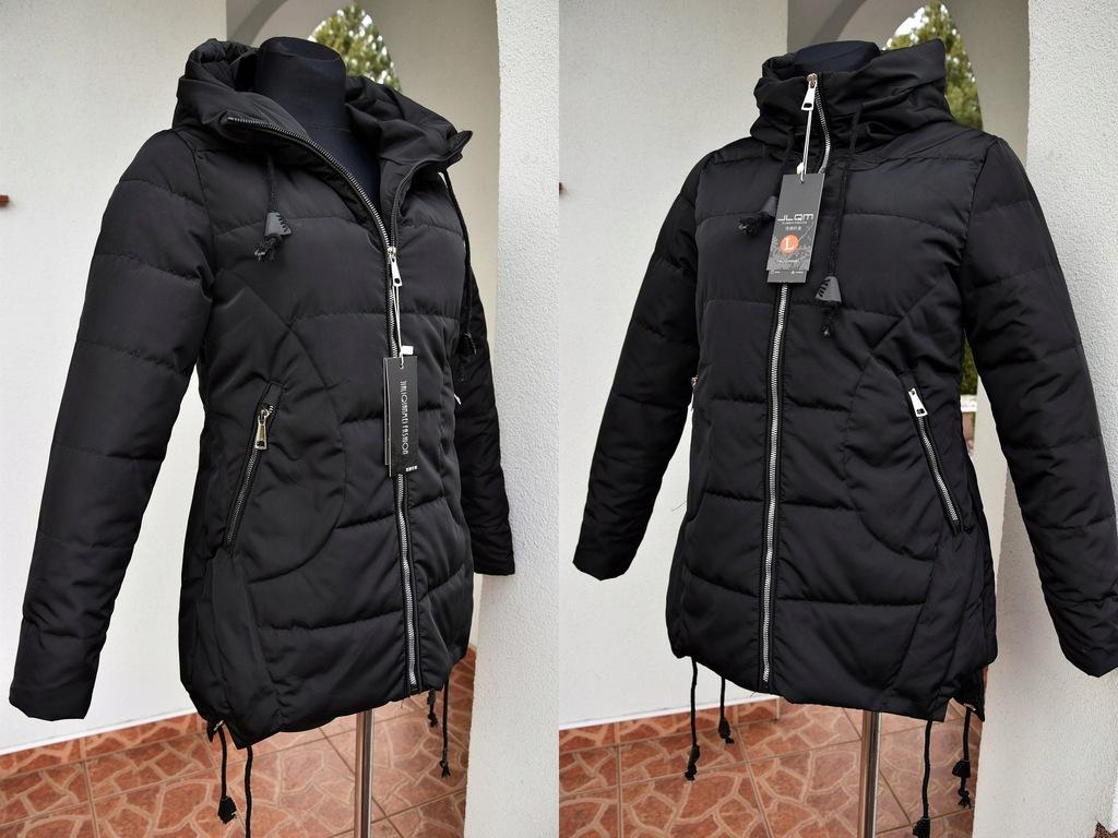 czarna krótka kurtka 50 wiosenna