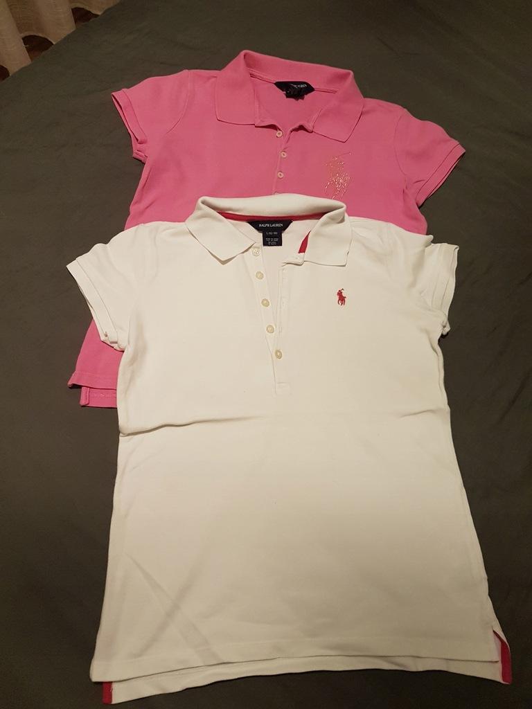 Koszulka polo ralph lauren różi biel