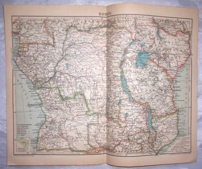 KONGO. Mapa. 1920.