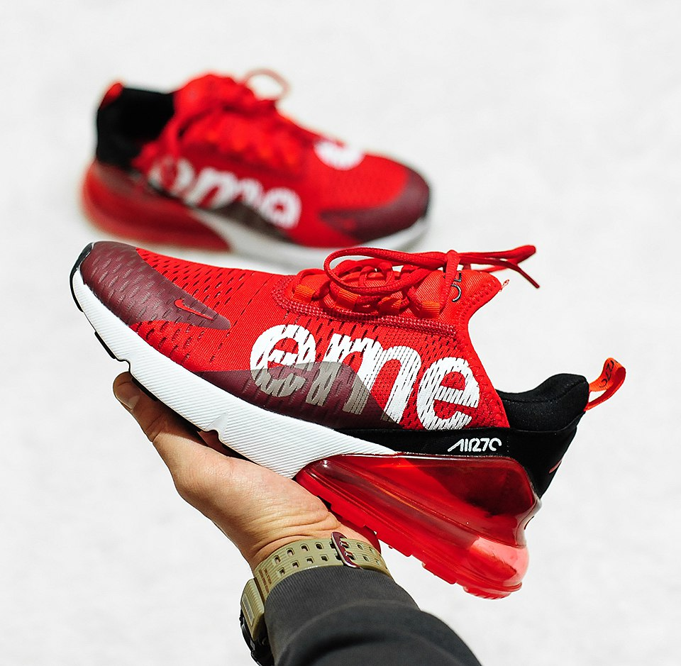 nike air max 270 supreme red