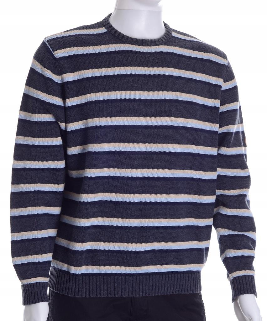 PIERRE CARDIN bawełniany sweter męski w paski M