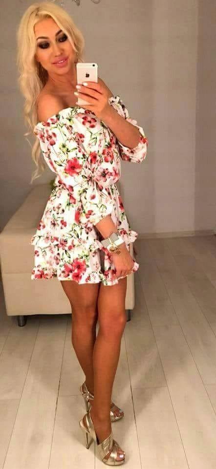 Sukienka Hiszpanka Kwiatki Uni Lato Wakacje 7429647368 Oficjalne Archiwum Allegro