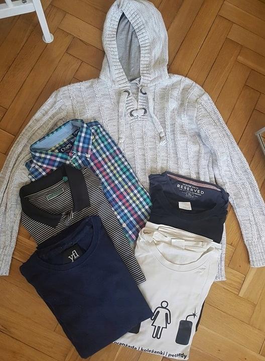 paka ubrań męskich XL XXL sweter bluzki koszula