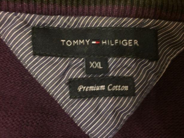 Sweter sweterek fioletowy TOMMY HILFIGER XXL