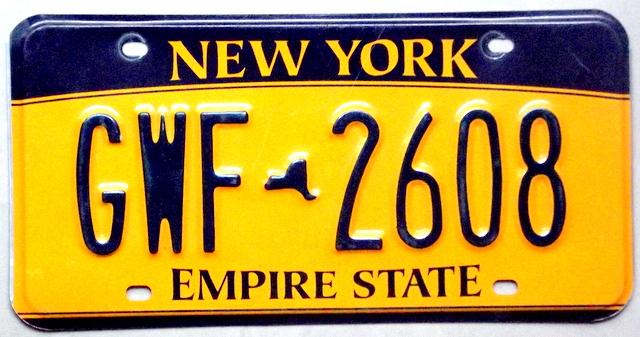 Tablica Rejestracyjna Usa New York 7172460830 Oficjalne Archiwum Allegro