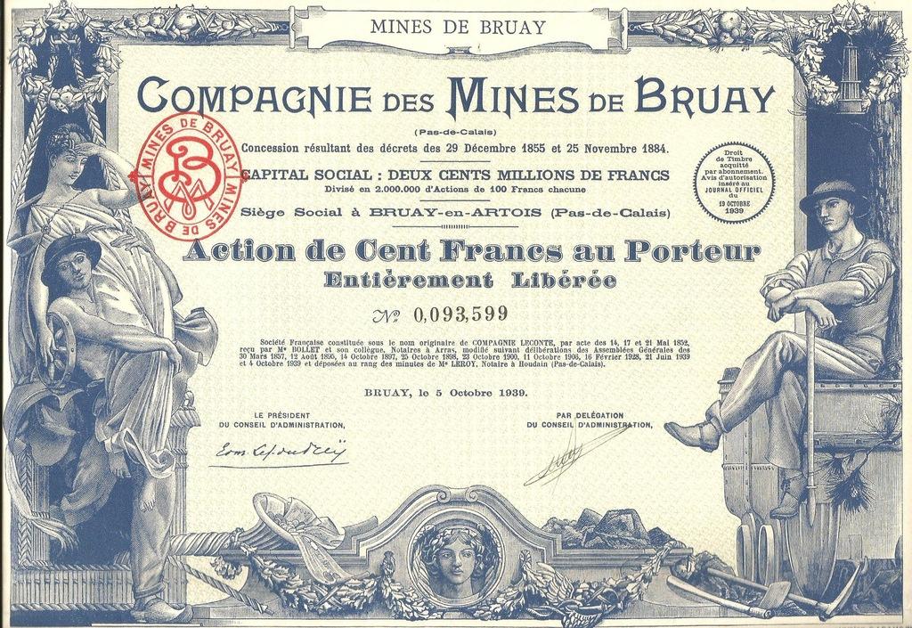 !KOPALNIE BRUAY NORD-PAS-DE-CALAIS!POLONIK! 1939!