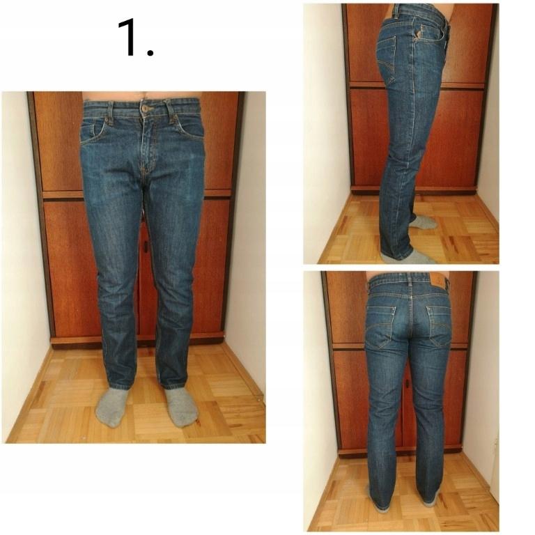 Paka spodni jeansy firmowe zestaw