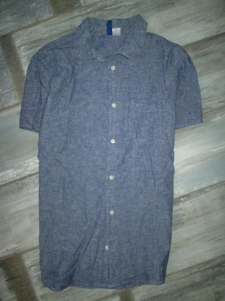 H&M męska koszula A'LA jeans dzinsowa S 7263268348  wmJZF