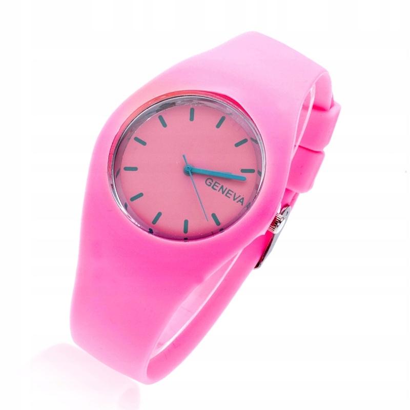 Zegarek jelly unisex damski męski Geneva Gumowy