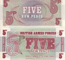 BANKNOT WIELKA BRYTANIA FIVE NEW PENCE UNC/428-AV/