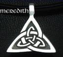 SREBRNY WISIOR CELTYCKI -Triangular IV Srebro 925