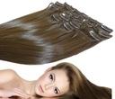 Doczepiane włosy CLIP IN jak Naturalne 8 TAŚM 53cm