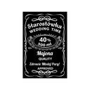 Naklejki etykiety weselne na wódkę STAROSTÓWKA!!!