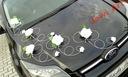 Dekoracja samochodu ozdoby na auto do ślubu ślub