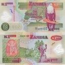 ~ Zambia 1000 Kwacha 2006 P-44e POLIMER UNC Super