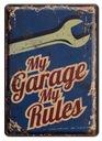 GARAGE METALOWY SZYLD RETRO 14x20cm #00775