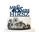 Indywidualna dekoracja weselna na tort topper 25cm