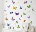 Naklejki ścienne na ścianę motyle motylki 17szt.