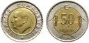 Turcja - moneta - 50 Kurus 2009-2015 - BIMETAL