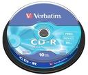 PŁYTY VERBATIM CD-R 700MB 52x Cakebox 10 szt.f.vat
