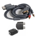 KABEL VGA XBOX 360 GOLD RCA + AUDIO DO JACK 3,5mm