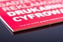 Tablica reklamowa A4 PCV 3 mm druk UV CMYK