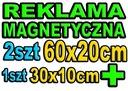 2 Reklama magnetyczna na samochód MAGNES 2xBOK+TYŁ Waga (z opakowaniem) 1 kg