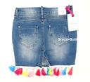 Włoska jeansowa frędzle jeans typ by o la dla M Rozmiar 38 (M)