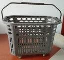 Koszyk sklepowy na kółkach - szary