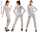DRESY DAMSKIE WELUROWE 8 KOLORÓW dres fitness L Rodzaj spodni zwężana nogawka